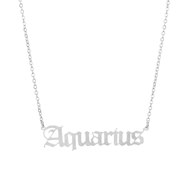Zodiac Sign Names Pendant 12 Constellations